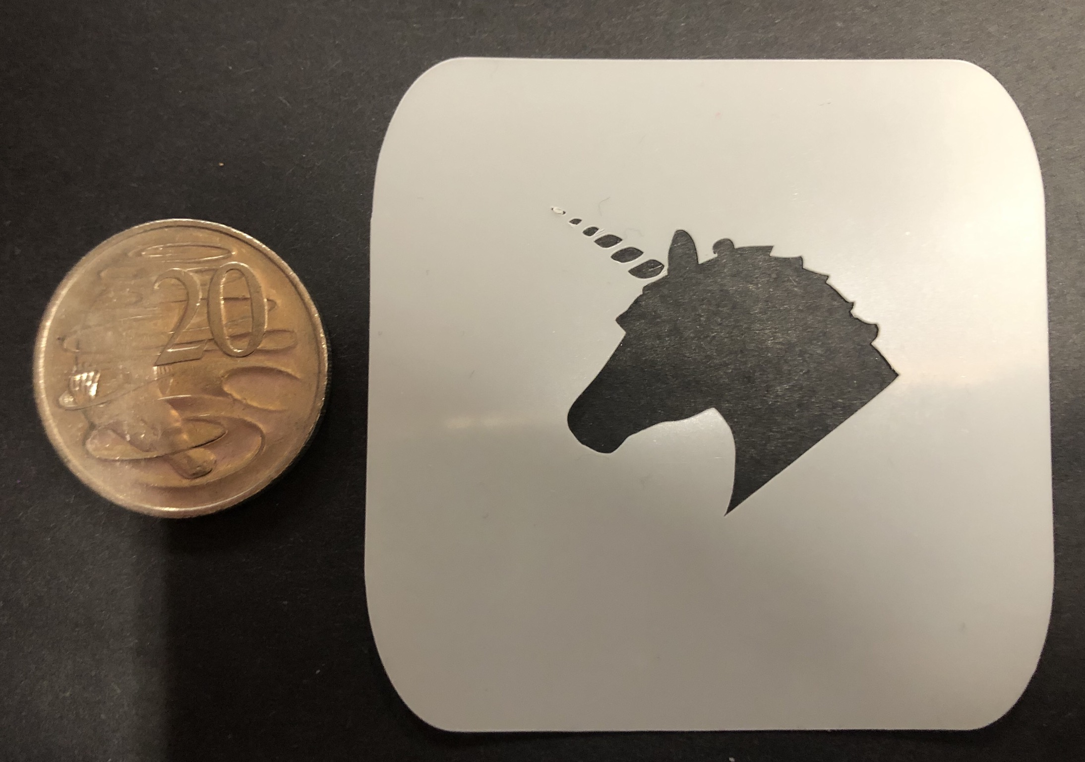 Baby bw stencils- unicorn head