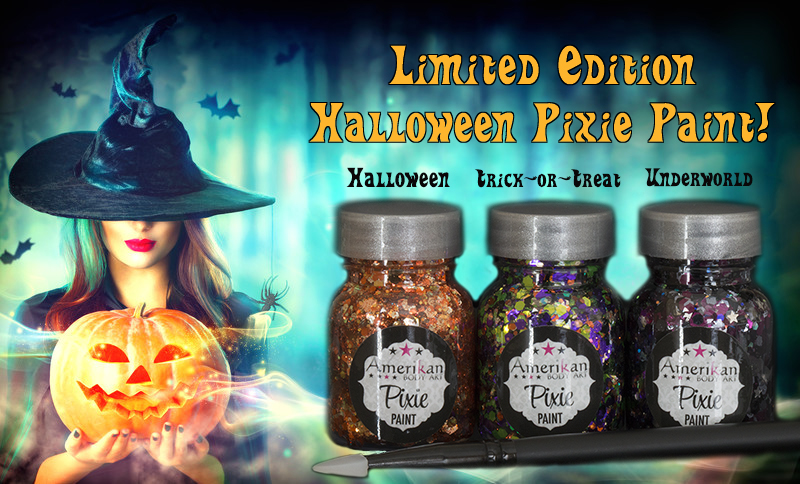 Halloween themed pixie paints 1 oz jars