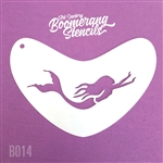 Art Factory Boomerang stencil- mermaid swimming