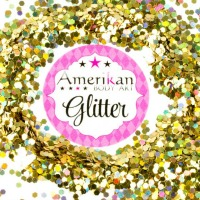 ABA Chunky Glitter Holographic Gold 1oz bag