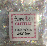 ABA Chunky Glitter Hollographic White 1 oz jar