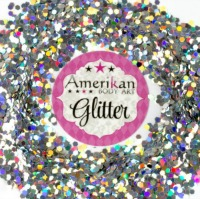 ABA Chunky Glitter Holographic Silver 1oz jar