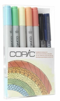Copic Ciao Rainbow 7 peice Doodle set