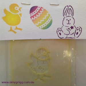 Face Painting Stencils Easter Pack #3 Set of 3 stencils