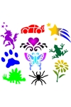 Face Painting Stencils Set of 10
