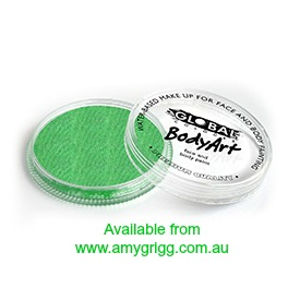 Global Body Art Makeup Pearl Lime Green 32g
