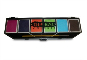 Global Body Art Face and Body Paints 6 x 10g Caribbean Pallette