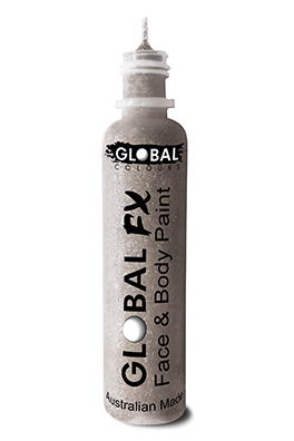 Global FX Glitter Gel Holographic Silver 36ml