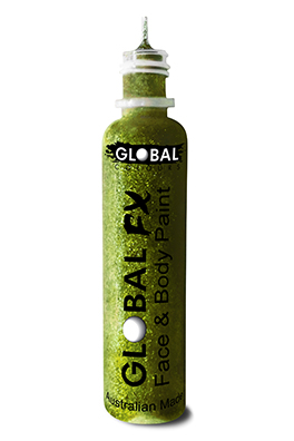 Global FX Glitter Gel Lime Green 36ml