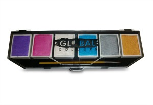 Global Body Art 6x 10g Pallette Pearl Colours