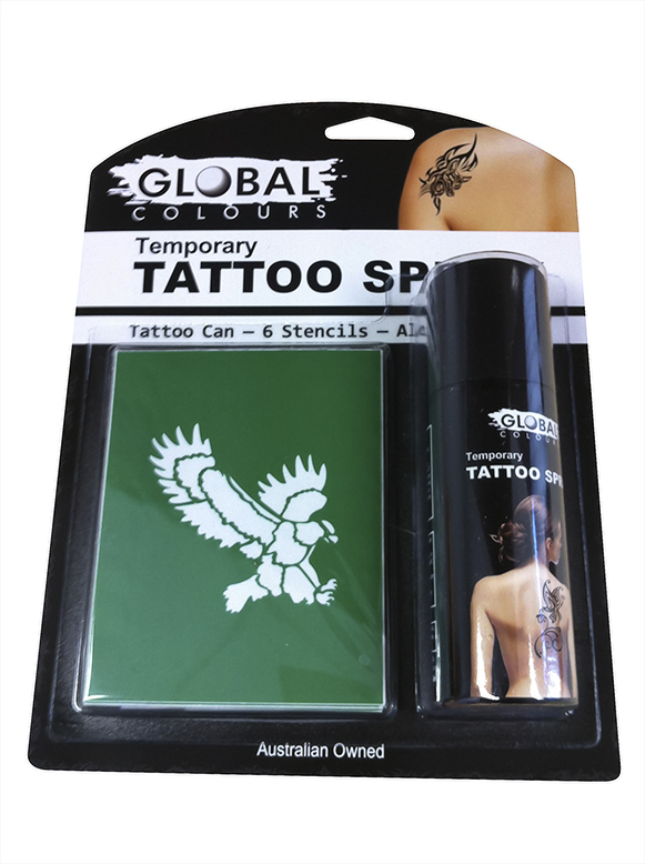 Global Temporary Tattoo Spray Pack IN STORE ONLY