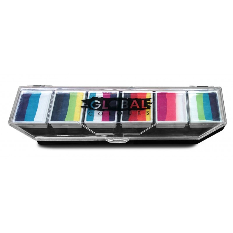 Global One Stroke Palette Rainbow Burst