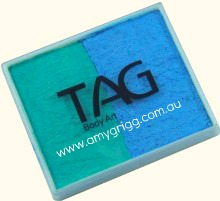 TAG 50g Split cake Pearl Teal and Pearl Sky Blue