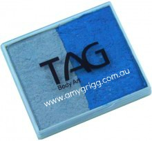 TAG 50g Split Cake Pearl Silver and Pearl Blue