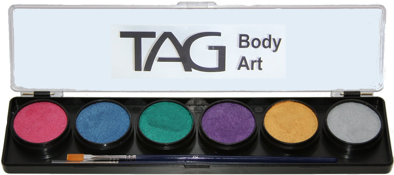 Tag Pearl 6 colour pallette