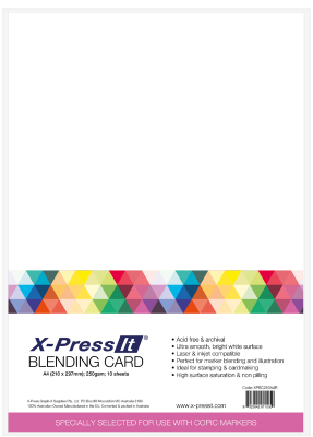 X-press It Blending Card A4 pack of 10