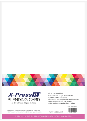 X-Press It Blending Card A4 25pk