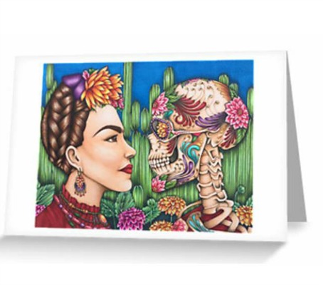 "Card ""Defiance""a portrait of Frida Kahlo by Amy Grigg"