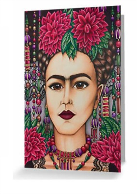 "Card ""Frida Kahlo with Lace""By Amy Grigg"