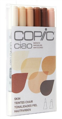Copic Ciao Markers Skin colours 6 peice set