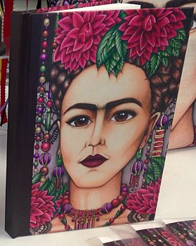 Journal Frida Kahlo with Lace By Amy Grigg