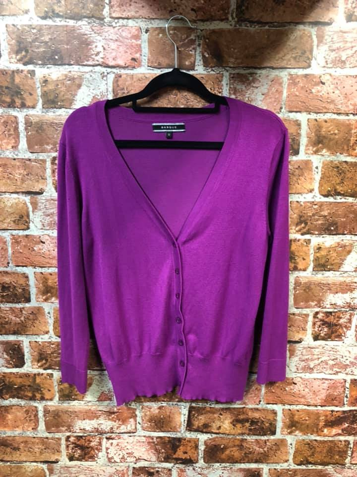 Recycled Fashion- Basque Purple Cardigan size 12