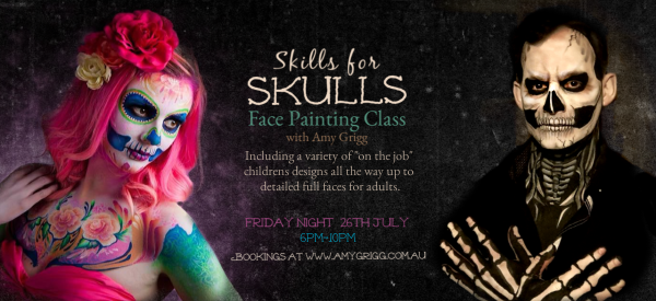 Skills with Skulls- Face Painting Workshop with Amy Grigg