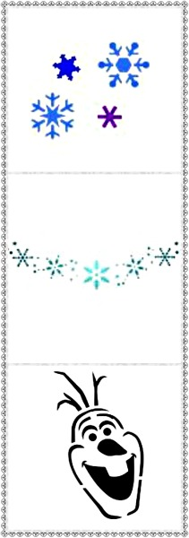 Snow Set Face Painting Stencils- Pack 2- Set of 3 Stencils