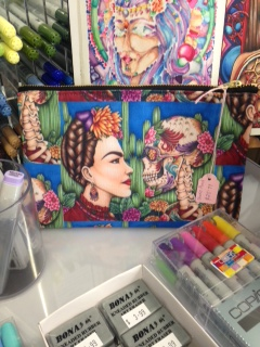 "Studio Pouch ""Defiance""A portrait of Frida Kahlo By Amy Grigg"