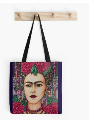 Tote Bag Frida Kahlo with Lace
