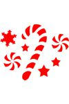Christmas Face Painting Stencil Candy Cane